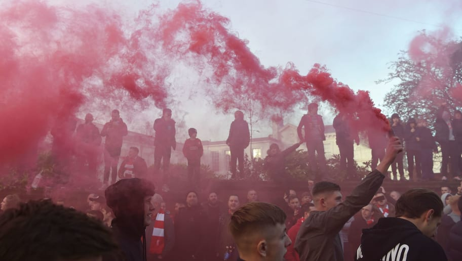 VIDEO: How Liverpool Fans Greeted Manchester City's Team Bus on Their Arrival at Anfield